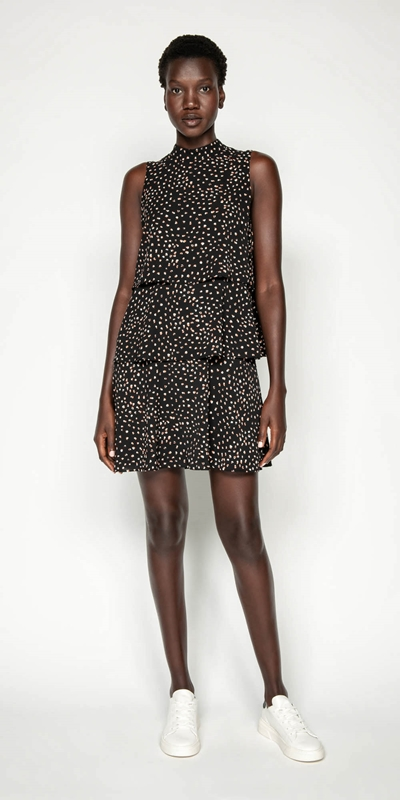 Dresses | Abstract Spot Tiered Frill Dress
