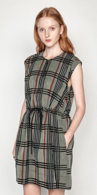 Dresses  | Linen Check Dress