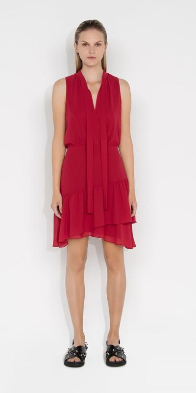 Dresses | Georgette Frilled Hem Dress