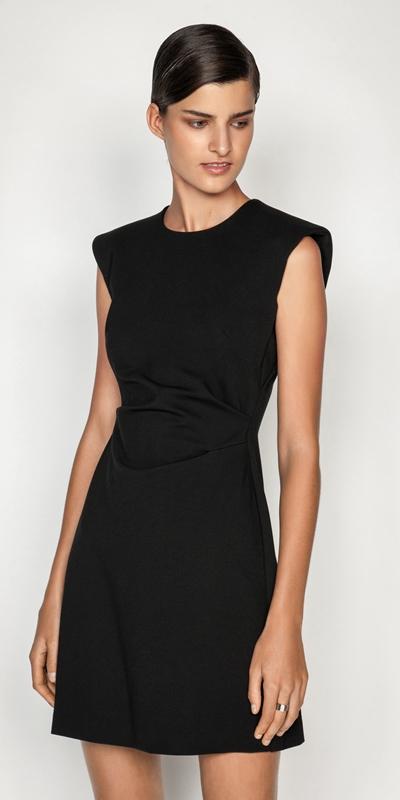 Dresses  | Sharp Shoulder Shift Dress