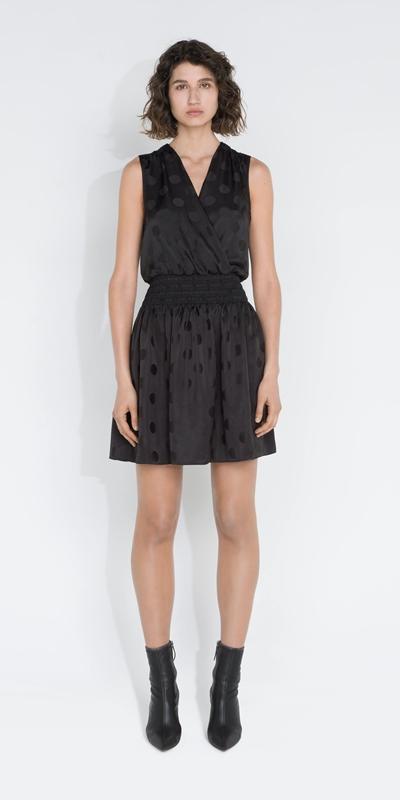 Dresses | Spot Shirred Waist Dress