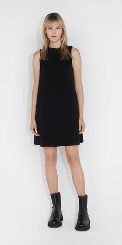 Dresses | Funnel Neck Shift Dress