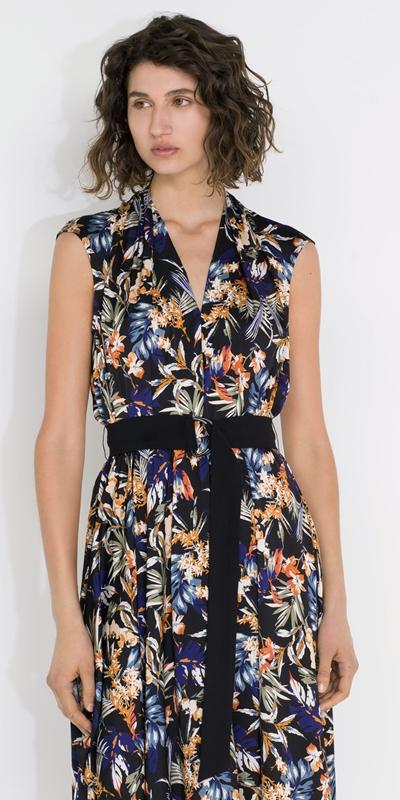 Dresses  | Palm Draped Midi Dress