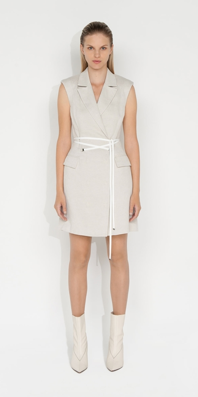 Dresses | Twill Sleeveless Blazer Dress