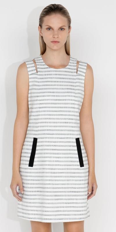 Dresses  | Stripe Tweed Shift Dress