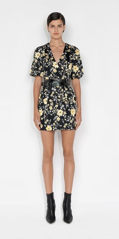 Dresses | Floral Organic Cotton Puff Sleeve Dress