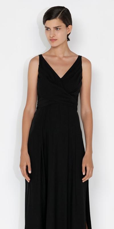 Dresses  | Wrap Front Midi Dress