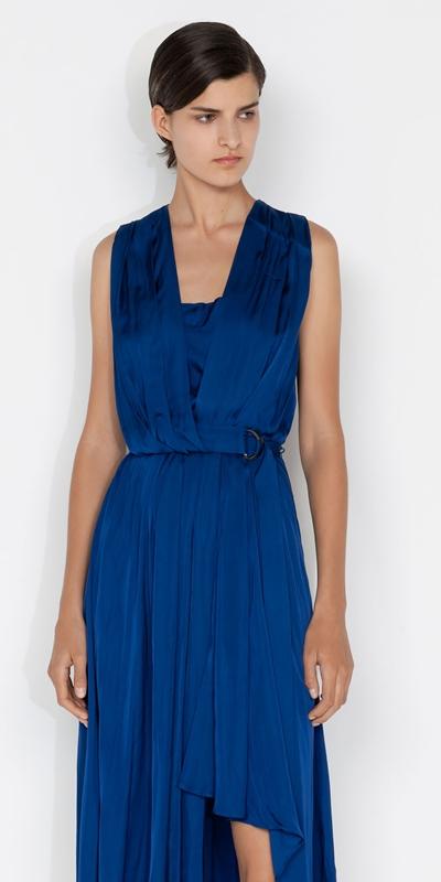 Dresses  | Drapey Satin Dress