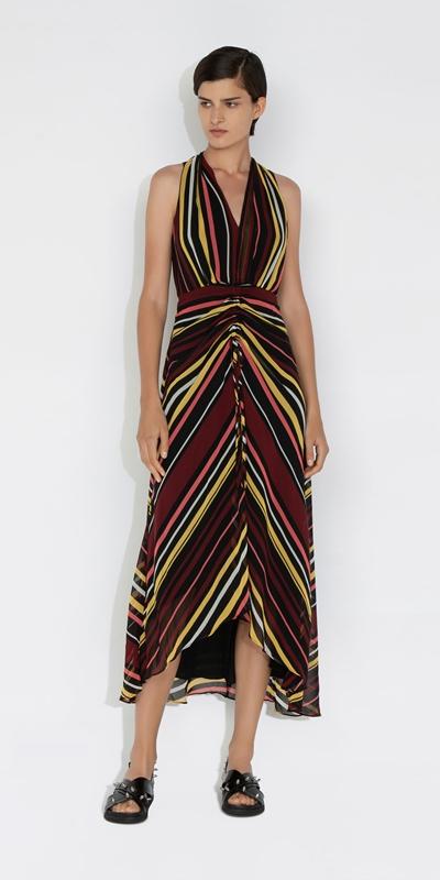 Dresses | Stripe Ruched Front Dress