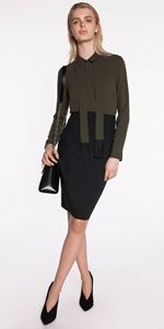 Skirts | Panelled Waist Pencil Skirt