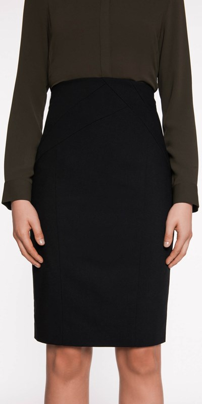 Skirts  | Panelled Waist Pencil Skirt