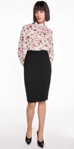 Skirts | Tuck Detail Suit Pencil Skirt