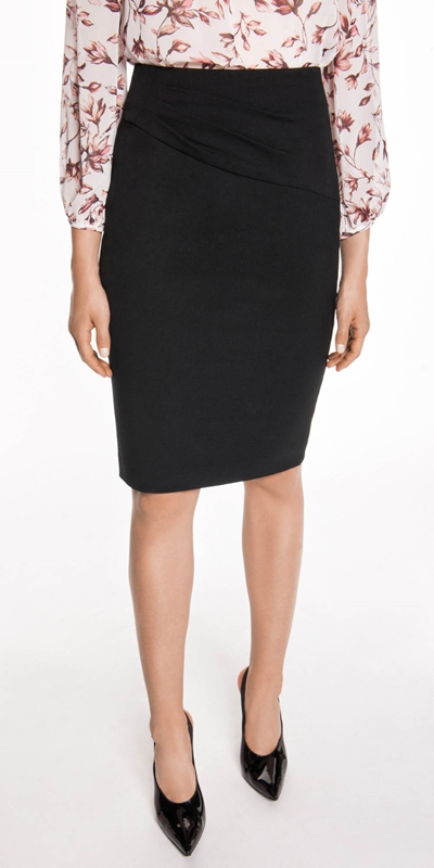 Skirts  | Tuck Detail Suit Pencil Skirt