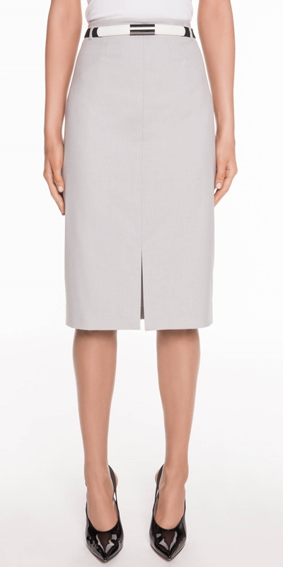 Skirts  | Melange Dobby Pencil Skirt