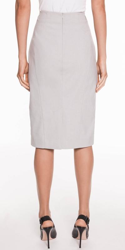 Skirts | Melange Dobby Pencil Skirt