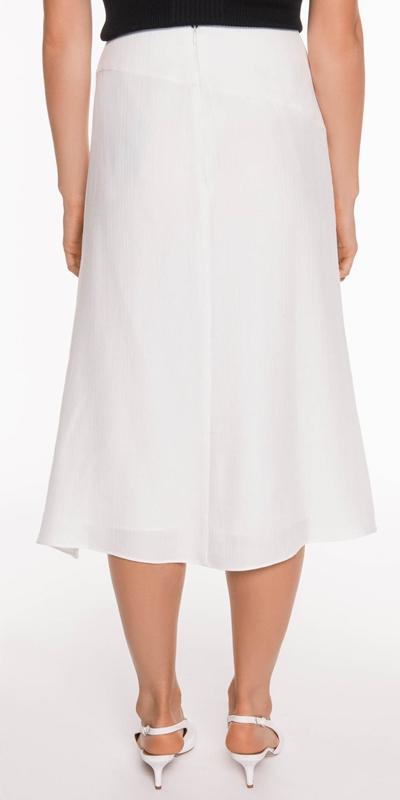 Skirts   Textured Tencel Wrap Skirt