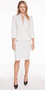 Skirts | Ivory Panelled Pencil Skirt