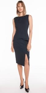 Skirts | Ink Textured Crepe Skirt