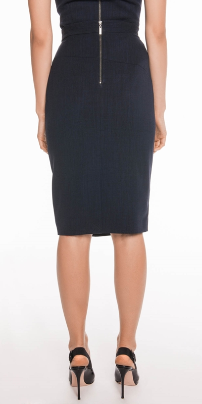 Skirts   Ink Textured Crepe Skirt