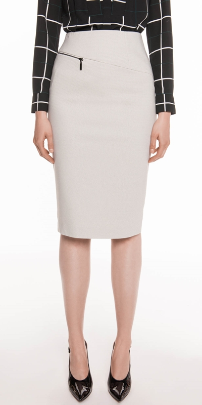 Wear to Work  | Grid Check Pencil Skirt