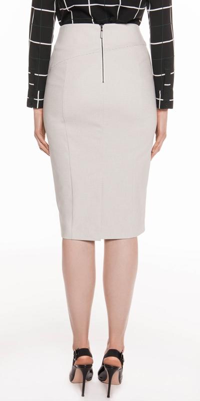 Skirts   Grid Check Pencil Skirt