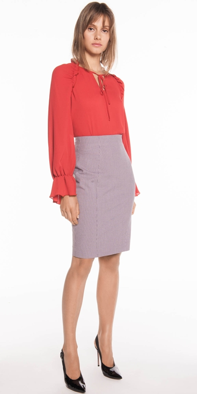 Wear to Work  | Cross Hatch Pencil Skirt