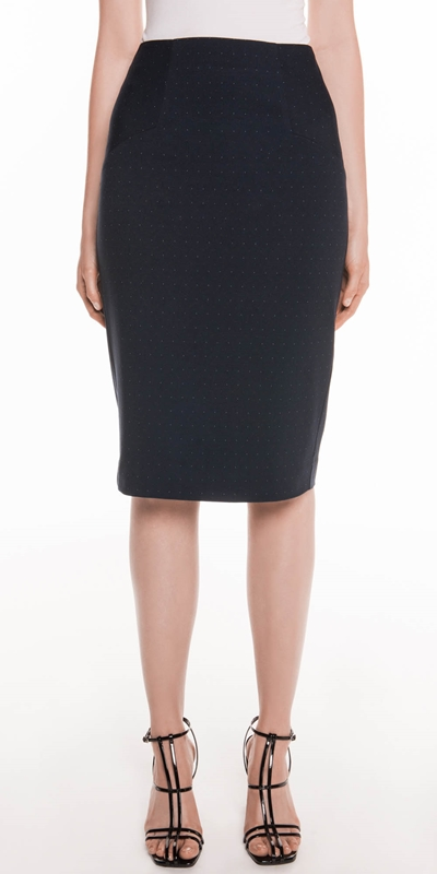 Skirts  | Coloured Pin Spot Pencil Skirt