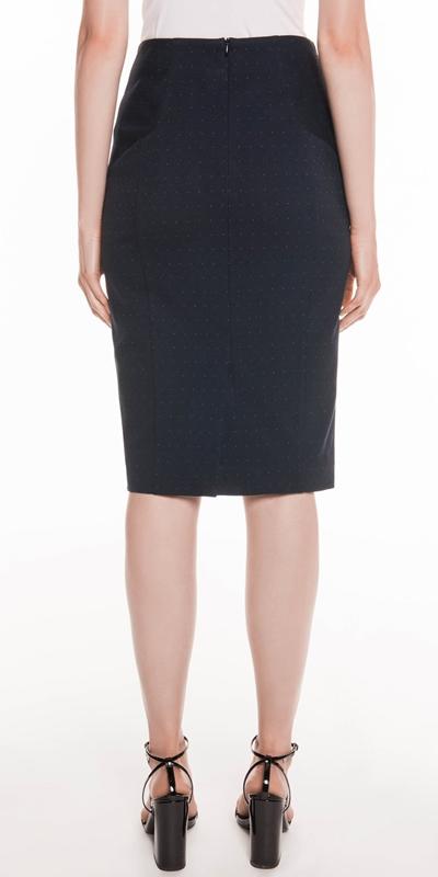 Skirts | Coloured Pin Spot Pencil Skirt