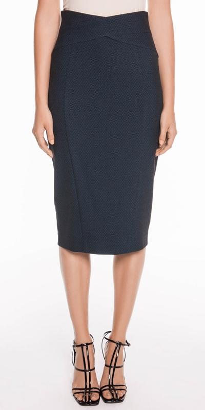 Skirts  | Textured Diamond Pencil Skirt