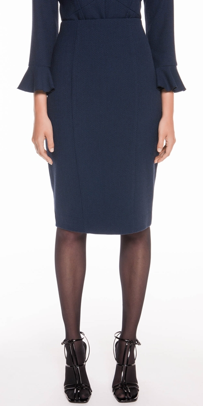 Skirts  | Boucle Twill Pencil Skirt