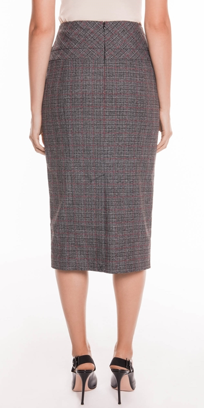 Skirts   Two Tone Check Pencil Skirt