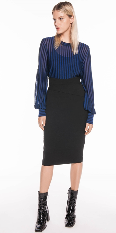 Skirts | High Waist Pencil Skirt