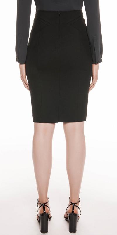 Skirts | Twill Panelled Pencil Skirt
