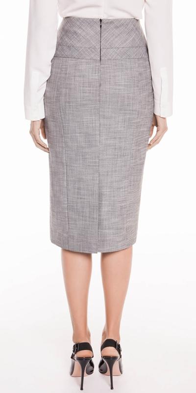 Skirts | Grey Melange Pencil Skirt