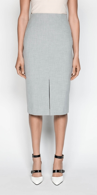 Skirts  | Melange Split Front Pencil Skirt