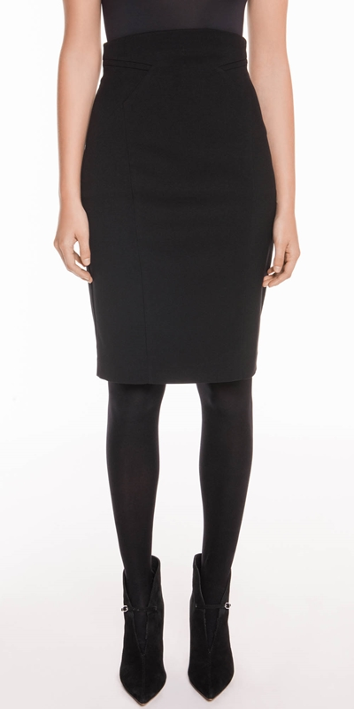 Skirts | Panelled Suit Pencil Skirt