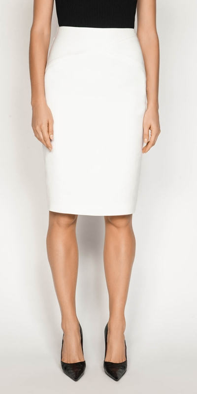 Skirts  | Double Weave Pencil Skirt