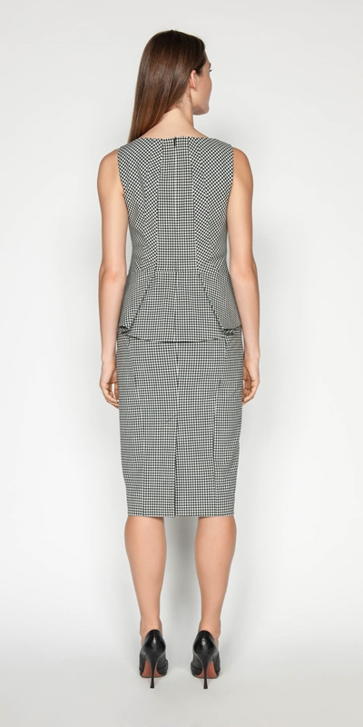 Skirts | Textured Gingham Pencil Skirt