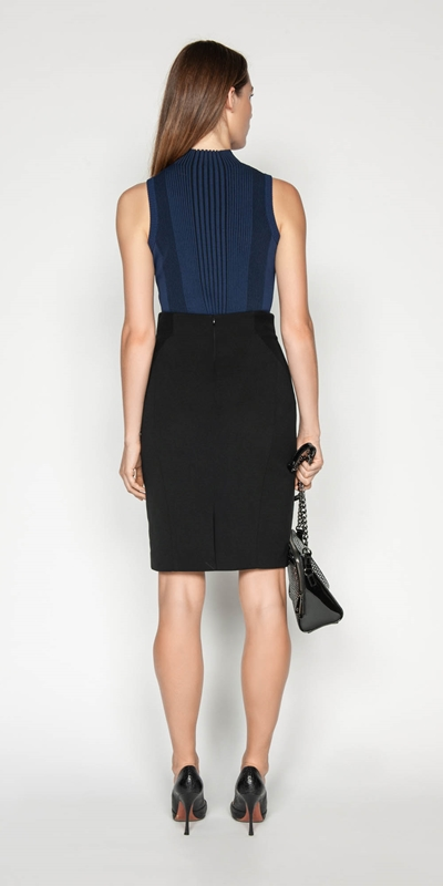 Skirts | Topstitched Pencil Skirt