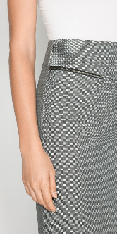 Skirts | Birdseye Zip Pencil Skirt