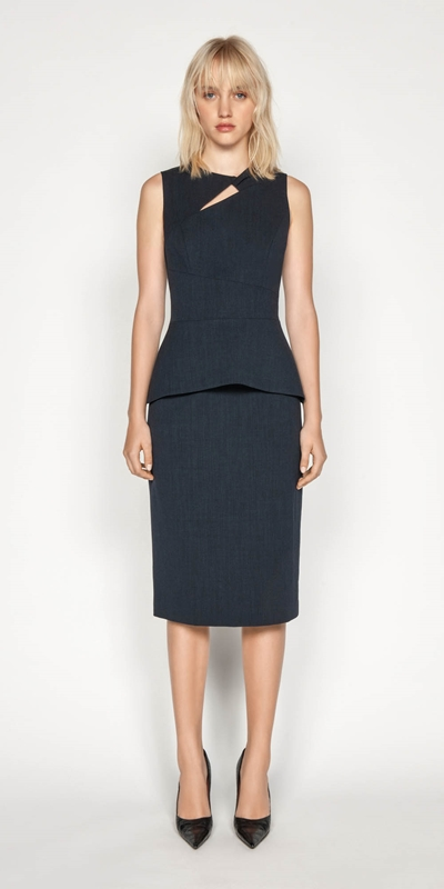 Wear to Work | Textured Crepe Pencil Skirt