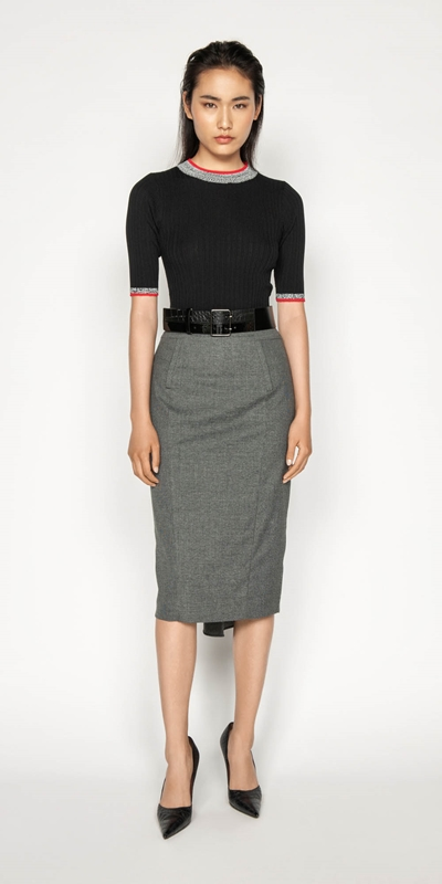 Wear to Work | Melange Pencil Skirt
