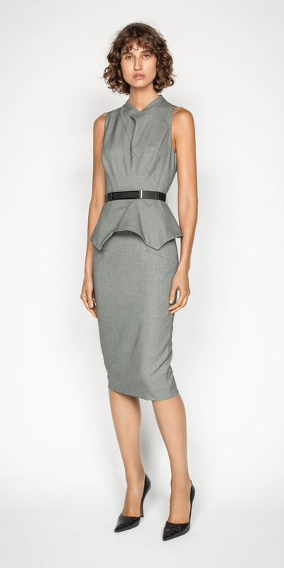 Sale | Birdseye Angled Pencil Skirt
