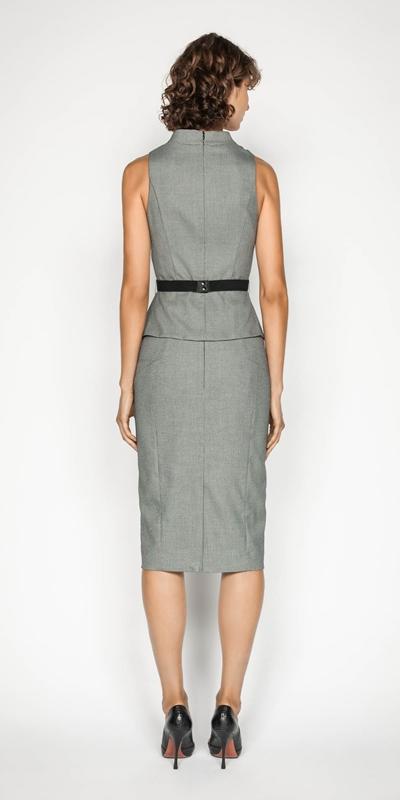 Skirts | Birdseye Angled Pencil Skirt