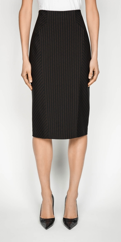 Wear to Work  | Striped Pencil Skirt
