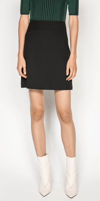 Skirts  | Textured Twill Mini Skirt