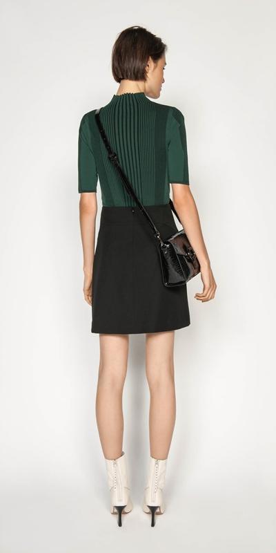 Skirts | Textured Twill Mini Skirt