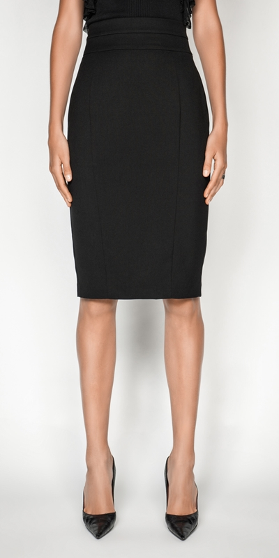 Skirts  | High Waisted Panelled Pencil Skirt