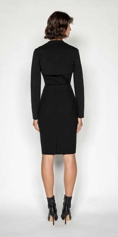 Skirts | Welt Detail Suit Pencil Skirt