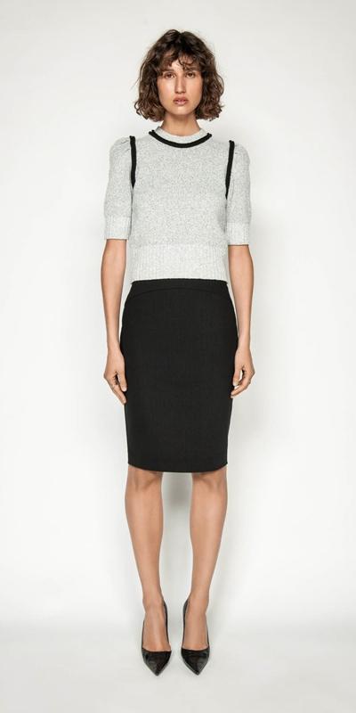 Sale | Ticking Stripe Pencil Skirt